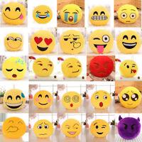 Cute 32cm Soft Emoji Smiley Emoticon Stuffed Plush Toy Doll Pillow Case Cover
