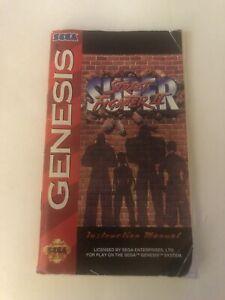 Super Street Fighter II Sega Genesis Manual Only Original Authentic