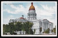 Vintage 1 cent Colorado State Capitol Denver Unposted Post Card.