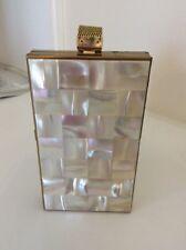 vtg Volupte Mother Of Pearl Compact Purse Lipstick Comb Art Deco dance handbag