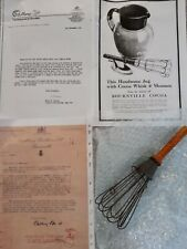 More details for antique chocolate cocoa cacao whisk cadburys bournville molinillo vintage +paper