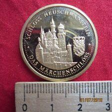Medaille - Ludwig II Märchenkönig von Bayern 1845 - 1886 Schloss Neuschwanstein