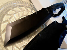 "Jungle Master Combat Cleaver Machete Bowie Knife Full Tang Pakka 15 3/4"" JM-034"
