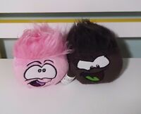 CLUB PENGUIN PUFFLES BROWN AND PINK ONLINE GAME DISCONTINUED SOFT TOY 12CM EACH!
