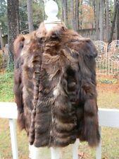 Stunning Boho Panache Designer Raccoon Fur Coat Jacket