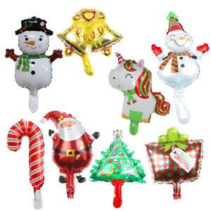 8x Christmas Balloon Aluminum Foil Santa Claus Snowman Xmas Balloons Party Decor