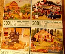 (4) 300 Large Piece Bits And Pieces Puzzles-Priced To Sell-Fun For All-Ak (22)