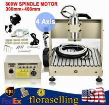 800w 3040 Cnc 4 Axis Router Engraver Engraving Drill Milling Carving Machine Us