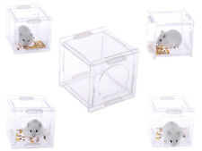 Happy Pet Small Animal House Plastic Transparency Cage, Hamster Gerbil Rat Mouse