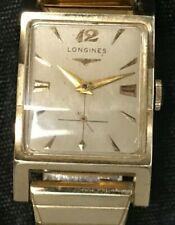 LONGINES TANK - 9LT MOVEMENT - 14K L&K CASE - 1954 VINTAGE - MEN'S WRIST WATCH