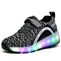 Ships from US, NEW Kids Roller Skate Shoes with Wheel Shoes Sneaker LED Light