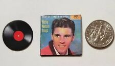 "Dollhouse Miniature Record Album 1"" 1/12 scale 60's music Ricky Nelson"