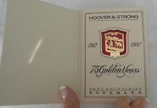 1987 Vintage Hoover & Strong 75th Anniversary 24 Kt. Gold Finish Bookmark