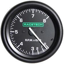 Racetech Shift Light Tachometer Rev Counter 80mm Stepper Motor 0-8Krpm 4/6/8Cyl