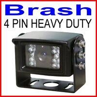 HEAVY DUTY TRUCK CARAVAN SONY CCD REAR VIEW 110° CAMERA 600 TVL 4 PIN BLACK