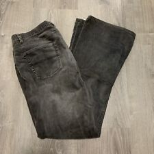Express Womans Pants sz 10 Gray Stretch Casual Corduroy Bootcut Trousers KM02