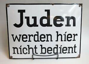 Germany Jewish Judaica WW2 Holocaust Juden Werden Hier Nicht Bedient Shop Sign