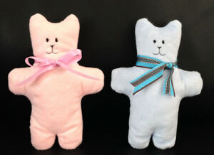 Handmade embroidered soft stuffed bear