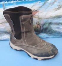 Womens L.L bean Boots Rain Brown Leather 9 M Waterproof  Boot Slip On