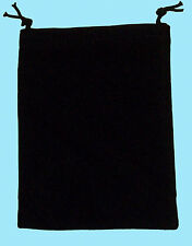 Chessex SMALL BLACK DICE BAG SUEDE Drawstring 4x6 Storage Pouch Velour Cloth RPG