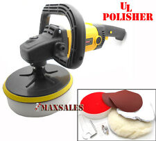 "New 7"" VARIABLE 6-SPEED ELECTRIC CAR POLISHER/BUFFER & SANDER w/ BONNET PAD"