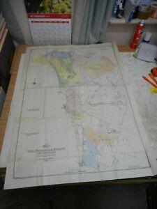 100% ORIGINAL LARGE SHERWOOD ESTATE NOTTINGHAM FOLDING MAP  BY A SAVILL C1948
