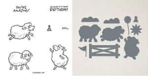 """Stampin Up """"Counting Sheep"""" Sale-A-Bration stamp set and dies  RETIRED"""