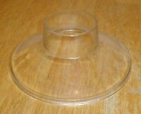 """Antique Clear Glass Flying Saucer Oil Lamp Shade - Embossed """"PATD DEC 16 - 73"""""""