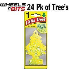 24x Magic Tree Little Tree Sherbet Lemon Scent Fragrance Car Van Air Freshener