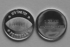 (50) 1 GRAM 0.999+ PURE SILVER FOOTBALL, EAGLES, COWBOYS, STEELERS, PACKERS