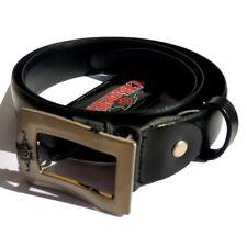 Cintura nera semi-lucido Charro 95cm Split Cowhide (pelle) UOMO per vestito - Ma