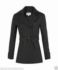 Hip Length Casual Patternless LA Coats & Jackets for Women