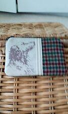 emily bond fabric and wool check handmade purse