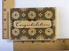 Hero Arts Rubber Stamp - Card Art Congratulations - K4882 - NEW