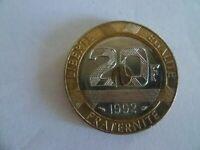 20 FRANCS  1992 MONT ST MICHEL V ouvert