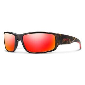 Smith Survey Sunglasses Men's Matte Camo Polarized Red Mirror
