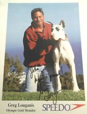 Greg Louganis Autographed Advertising Photo with COA  TJ1