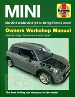 MINI COOPER SHOP MANUAL SERVICE REPAIR HAYNES BOOK 2014 2018 2016 2017 2015