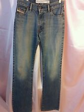 NWOT DIESEL Fanker Slim Fit Boot Cut blue Jeans Mens sz28 X 34 Italy 100% cotton