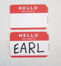 75 Red Hello My Name Is Name Tags Labels Badges Stickers Peel Stick Adhesive