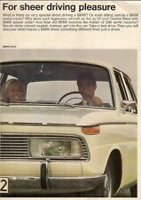 BMW 1966-67 UK Market Foldout Sales Brochure 1600 1800 2000 Ti TiLux CS R69S
