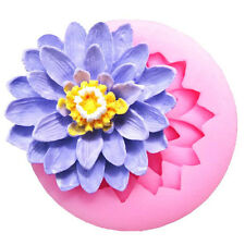 Water Lilies Fondant Mould Cake Decor Sugarcraft Baking Decor Silicone Mo.US
