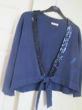 NAVY CARDIGAN>.WINDSMOOR...WITH DIAMONTE DETAIL>>>SIZE L>>GORGEOUS 4 SUMMER