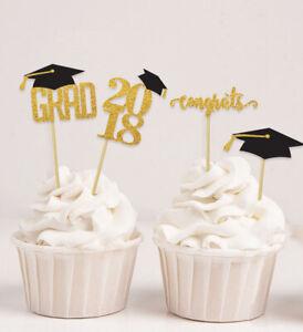Darling Souvenir| Graduation Cap Theme Party Cupcake Toppers | Dessert-ClR
