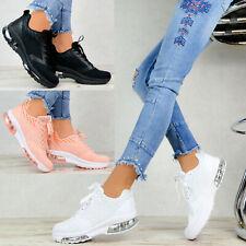 Neu Plateau Damen Sneaker Schuhe Sportschuhe Transparent Sohle Weiß Freizeit
