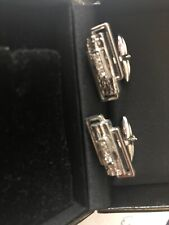 Gold Plated Diamond Cufflinks, Mint