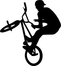 BMX AERIAL SILHOUETTE Vinyl Decal 150mm