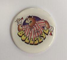 Bullseye Bully White  42mm Resin 3D Badge - Retro Darts TV Program Darts