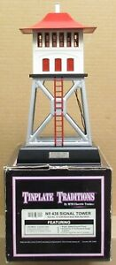 MTH Tinplate 10-1049 No. 438 Signal Tower (Black Base w/Red Roof) NOS