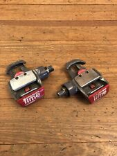 """Time Criterium Bicycle Pedals Road Bike 9/16"""" Clipless Red"""